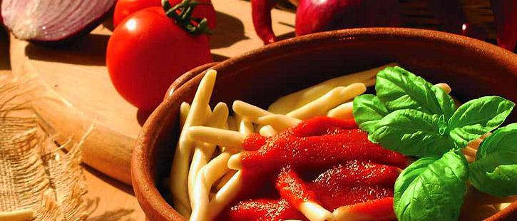 Typic calabrian durum wheat semolina pasta